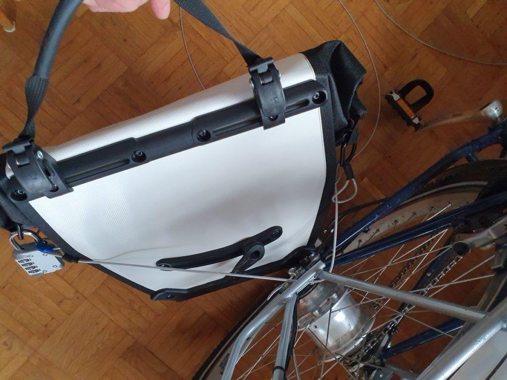 Diebstahlsicherung der Ortlieb-Taschen am Rad