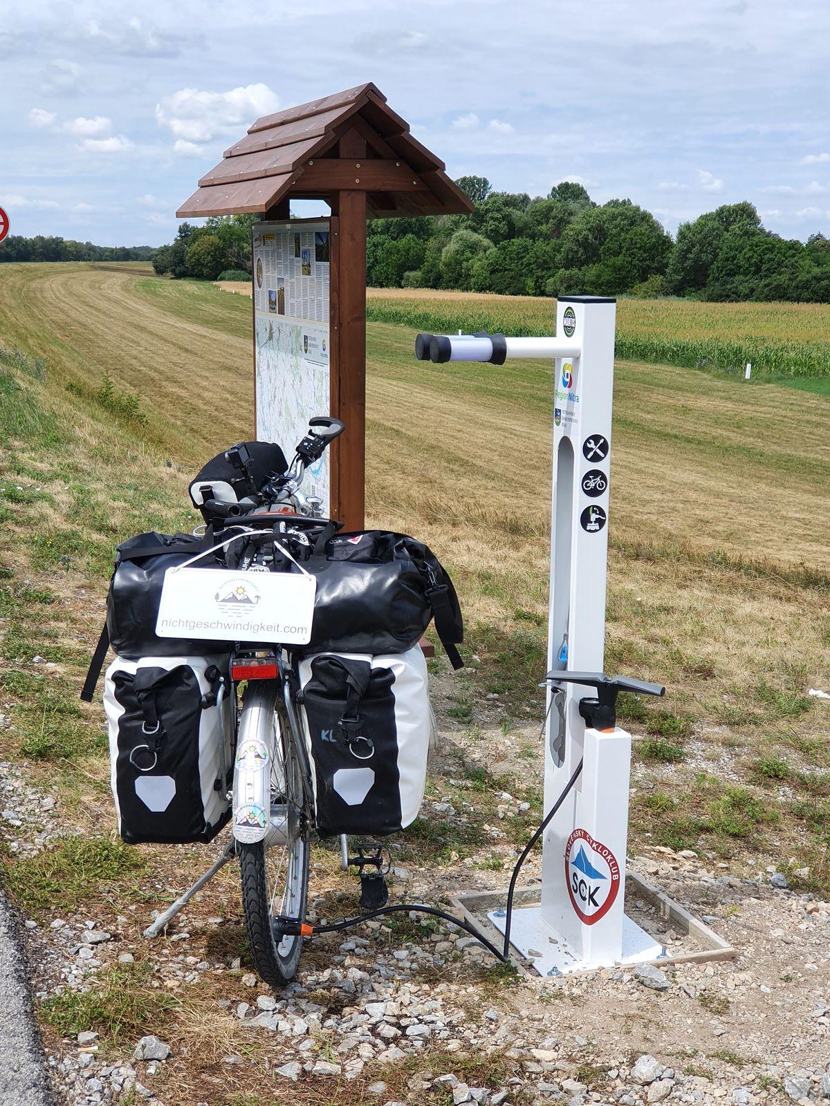 Bike Station zwischen Komárno und Štúrovo