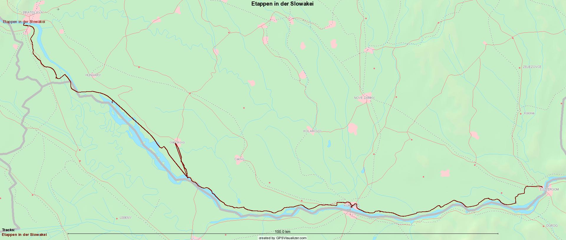 Etappen in der Slowakei