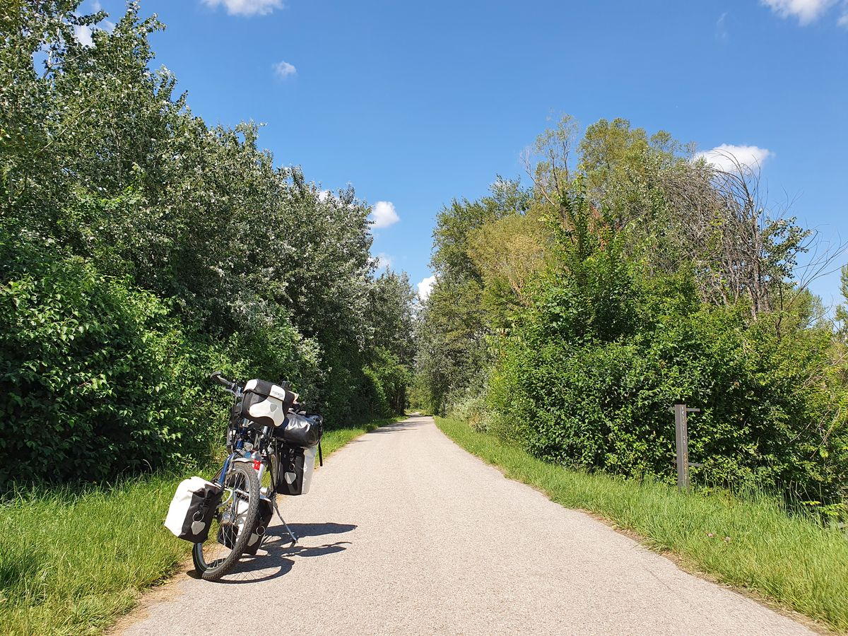 Gerade aus Wien raus