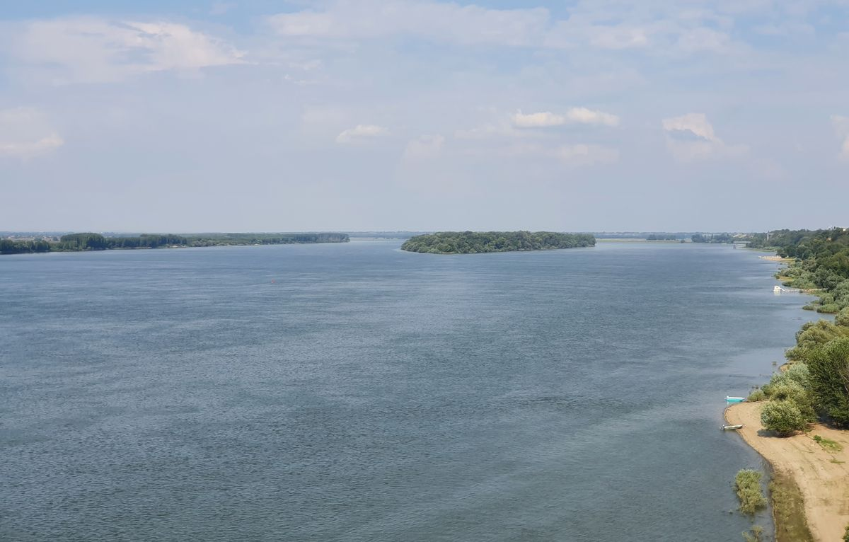 Die Donau zwischen Rumänien und Bulgarien bei Widin