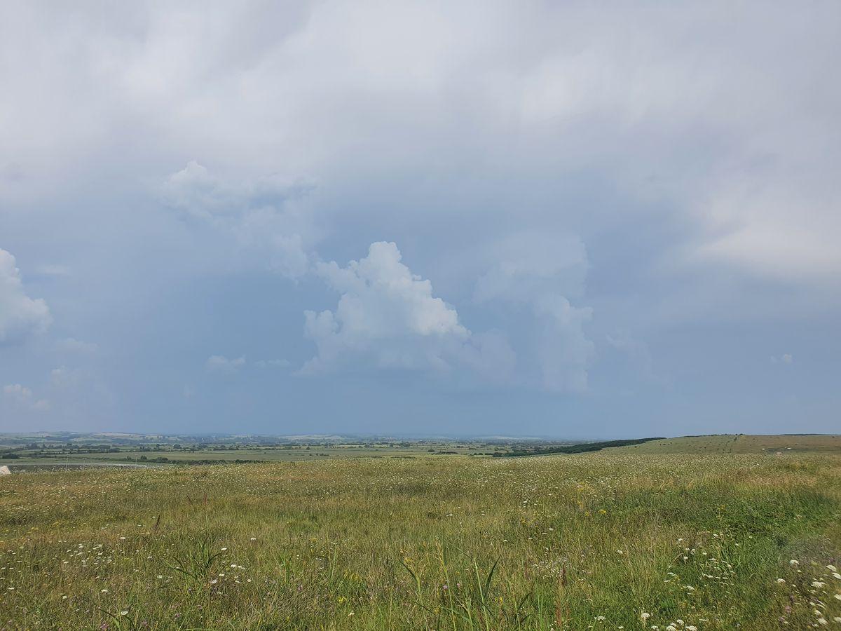 Gewitterwolken bei Păru