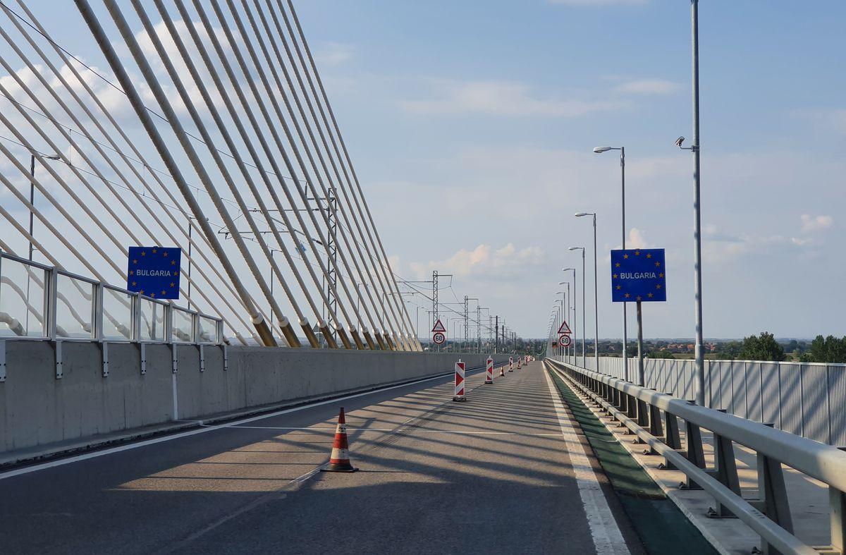 Grenzübergang zwischen Rumänien und Bulgarien bei Widin