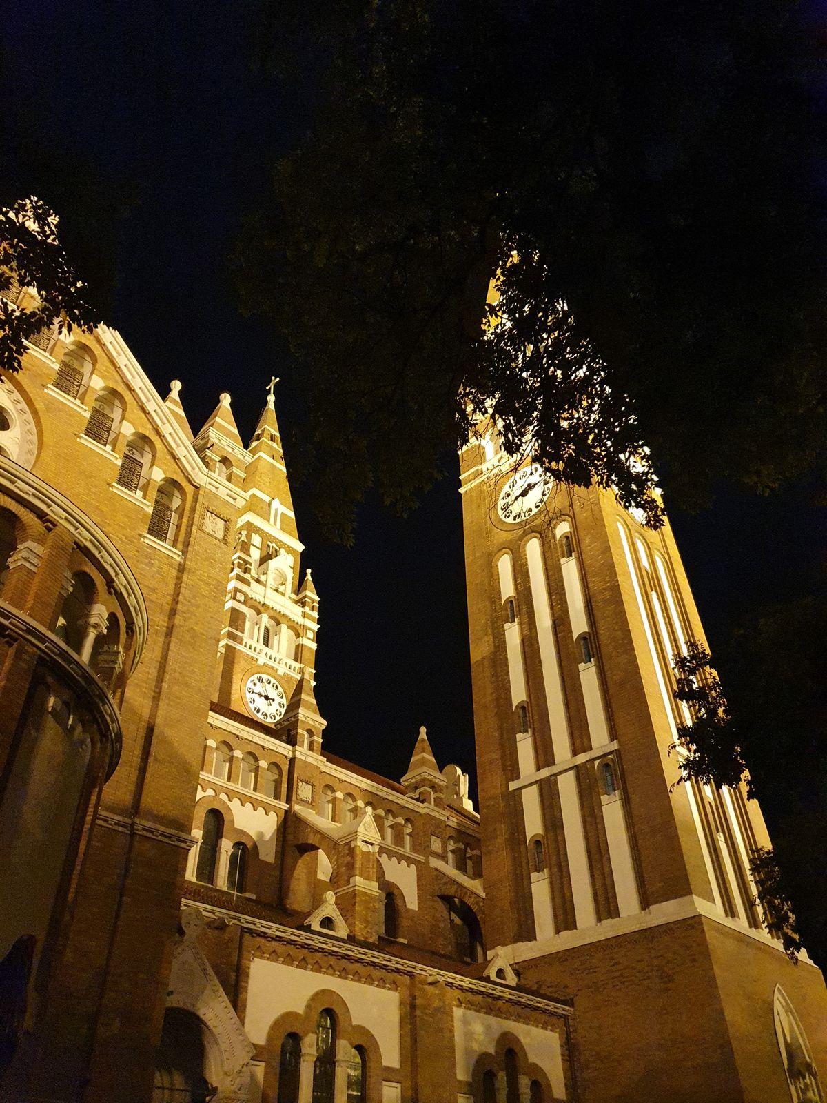 Szeged Dom bei Nacht
