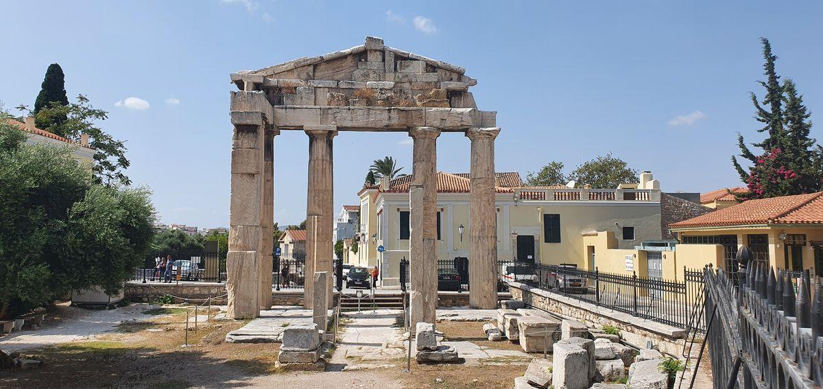 Athen - Tor von Athen Archegetis am Römischen Forum (Agora)