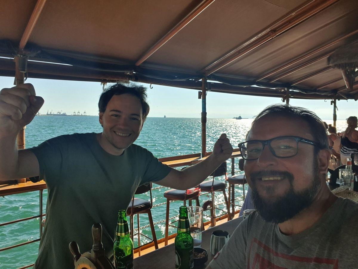 Bootsfahrt mir Giorgos in Thessaloniki