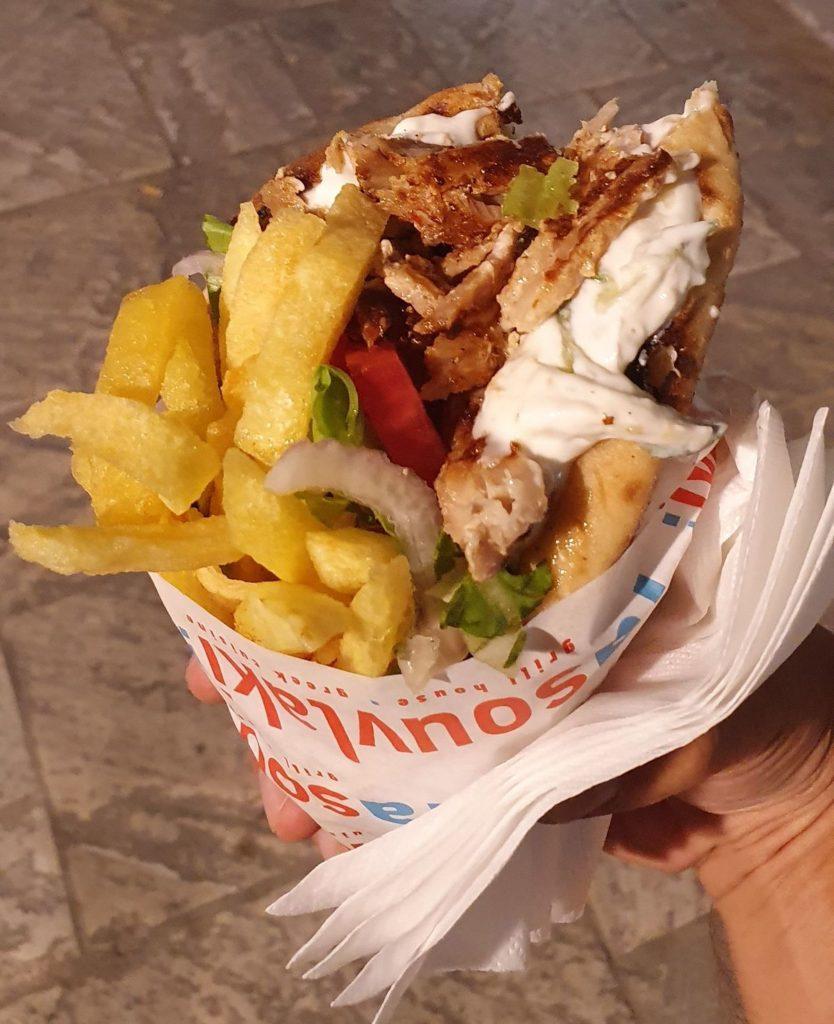 Gyros Sanwich in Naxos