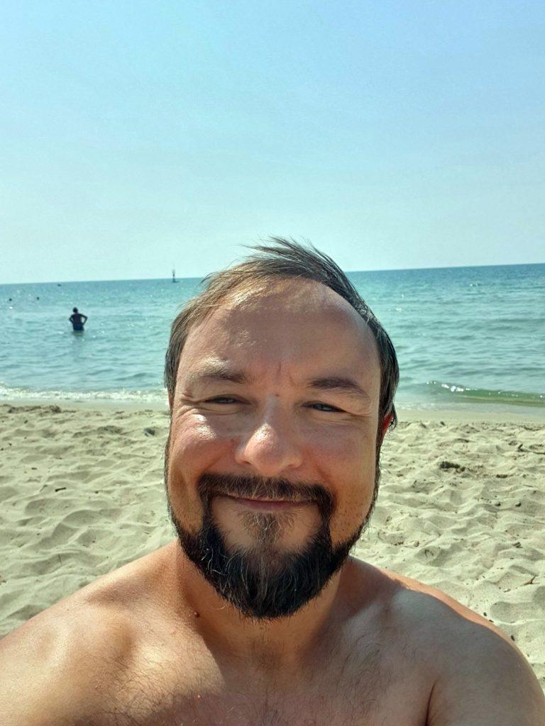 Roman am Strand von Paralia