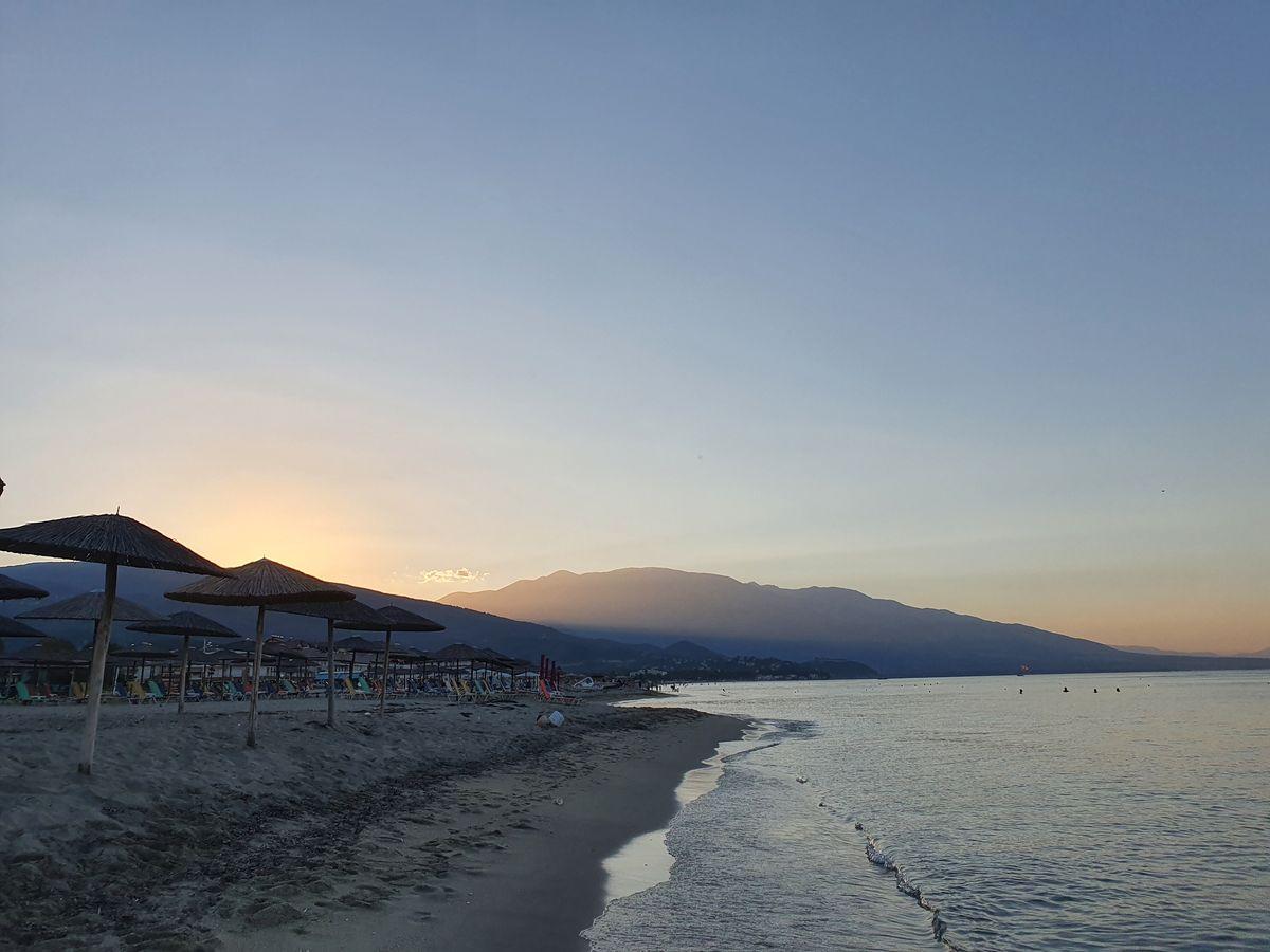Strand in Pori und Olymp