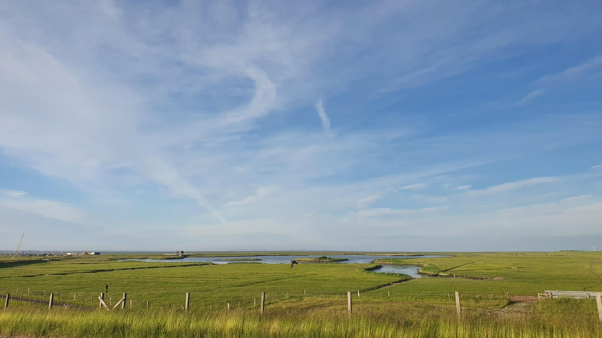 Blick aufs Meer bei Dornum