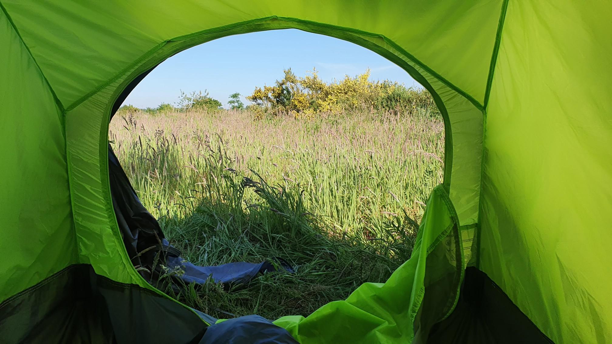 Zelten bei Kluse
