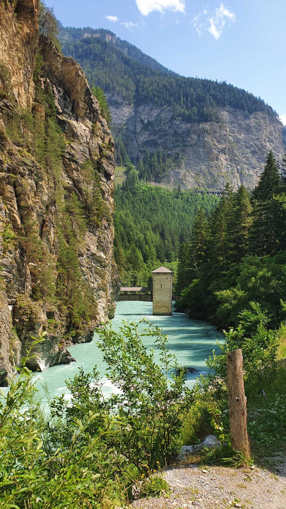 Bei Tschlin Schweiz kurz vorm Reschenpass