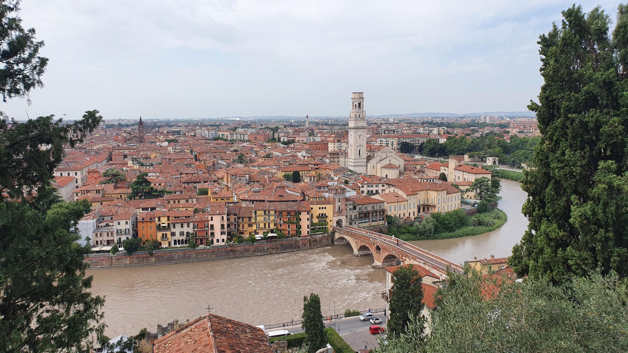 Blick vom Castel San Pietro in Verona