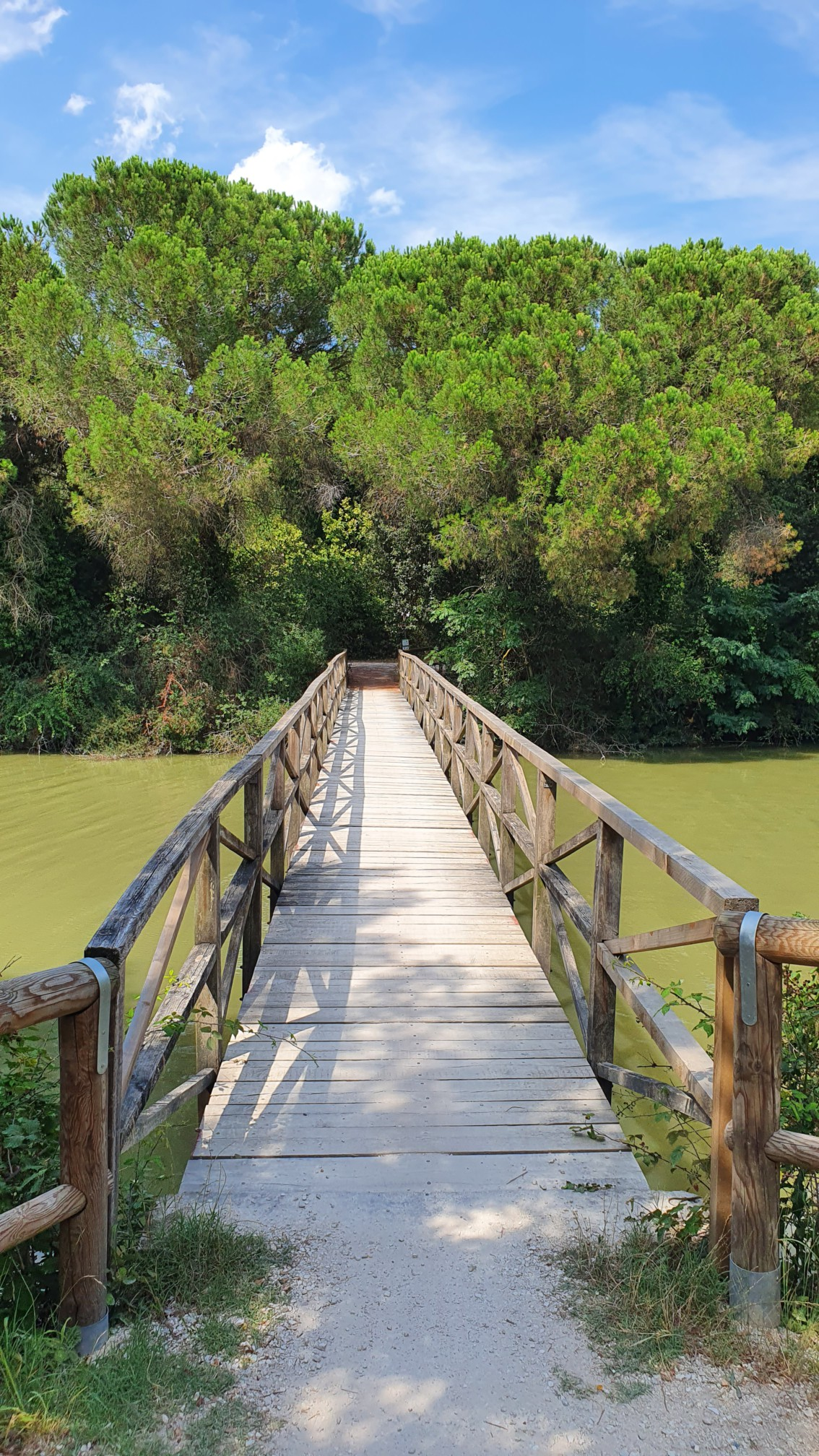 Holzbrücke bei Ravenna