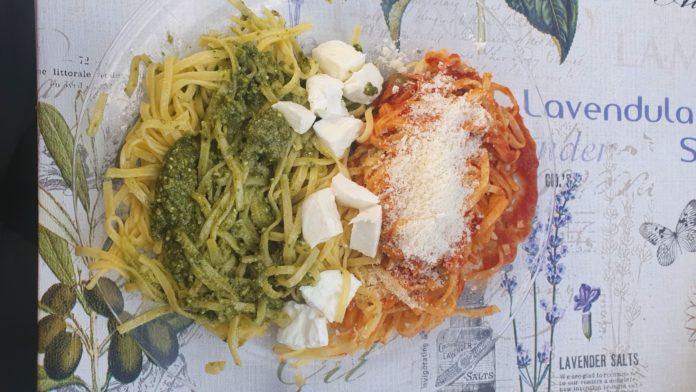 Italienische Spaghetti-Flagge