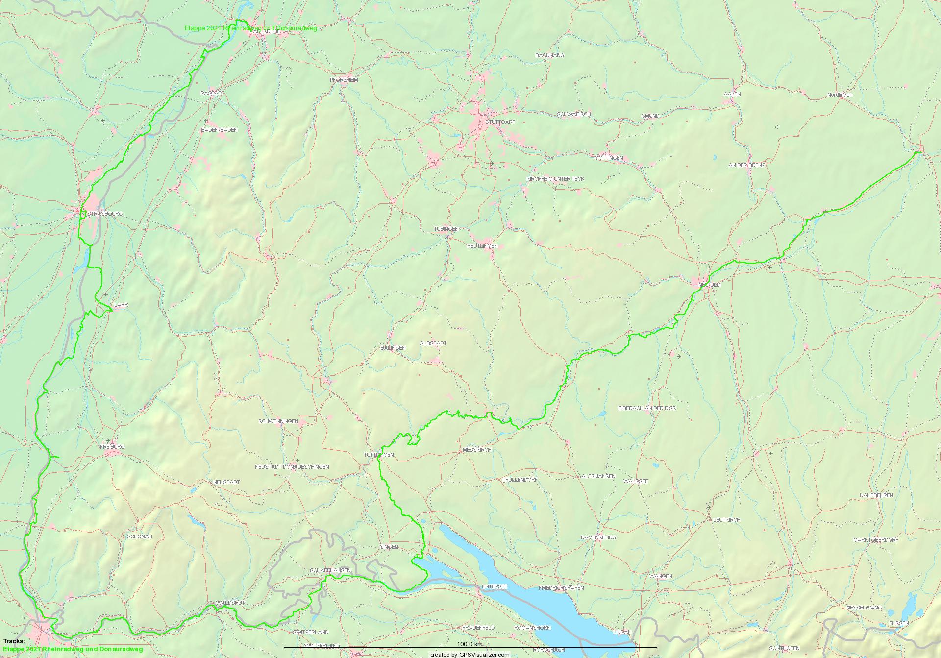 Rheinradweg und Donau