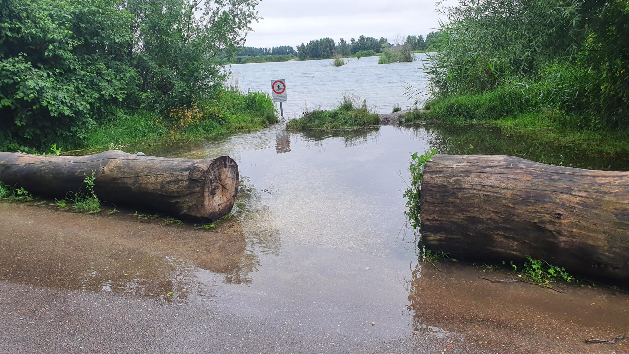 Überflutete Donau bei Ersingen