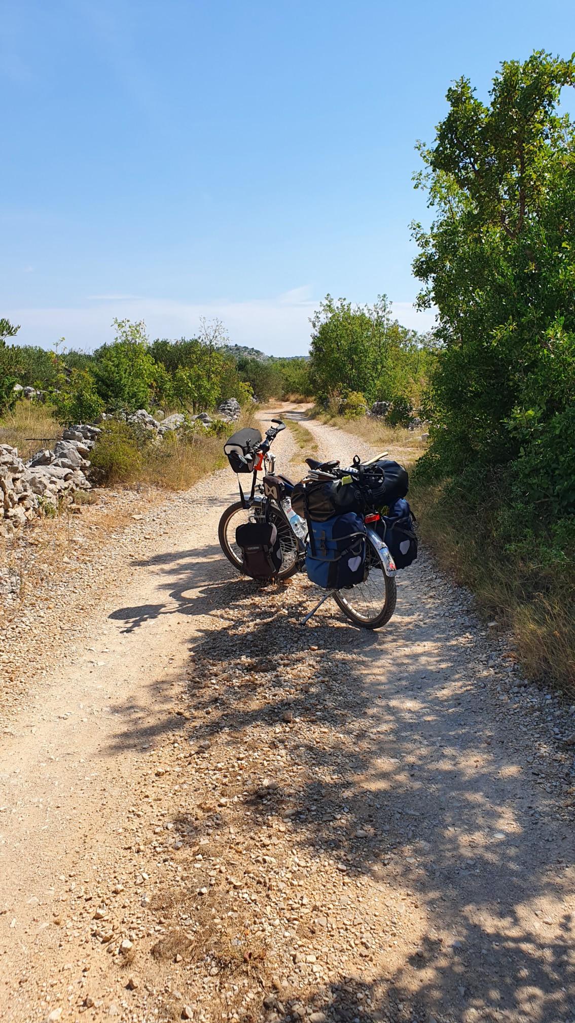Fahrrad bei Sapina Doca