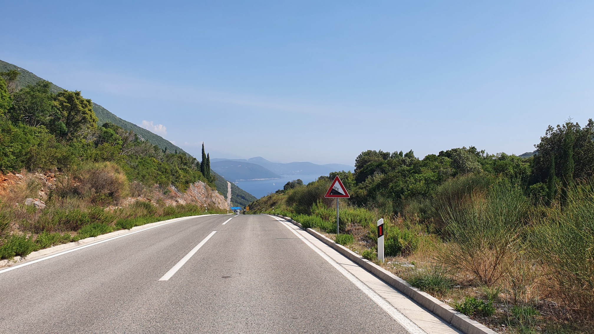 Grenze Kroatien zu Montenegro