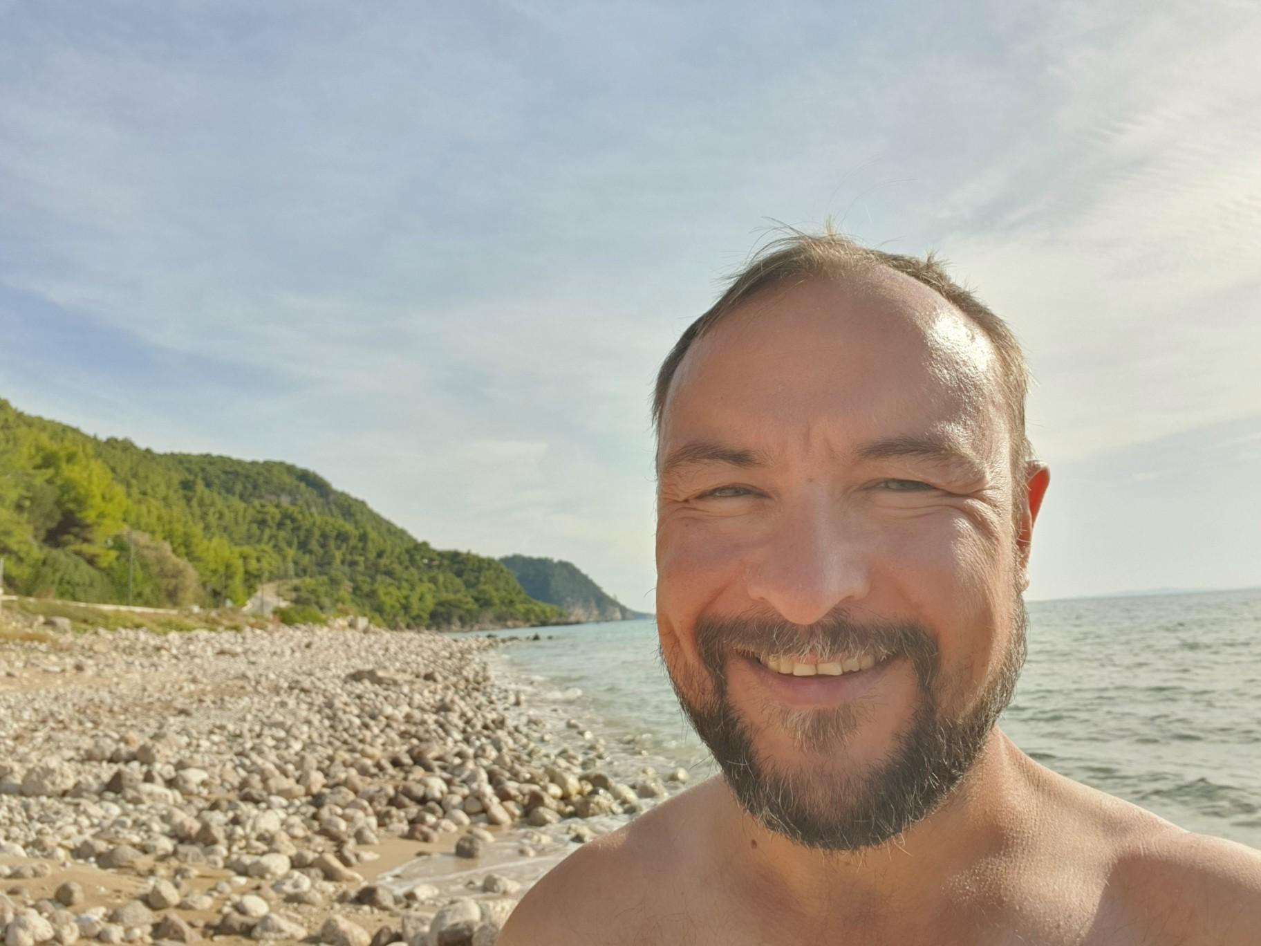 Am Strand bei Praga