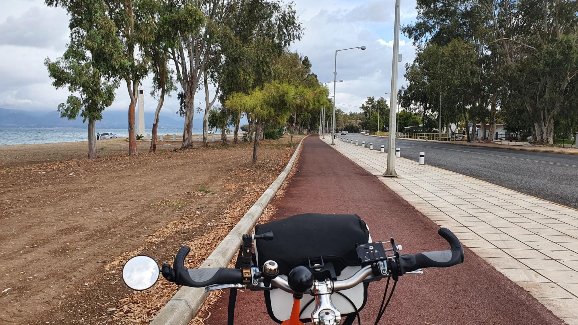 Fahrradweg bei Patras